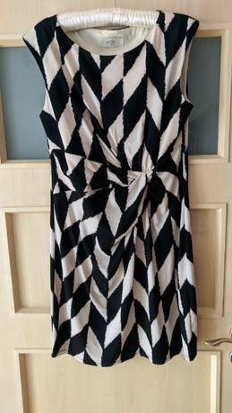 Sukienka Wallis petite elegancka czarno-biała 40 na święta