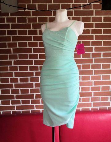 Nowa sukienka mietowa na ramiączka S M