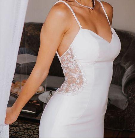 Piękna suknia ślubna projektu Justin Alexander