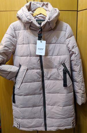 Нарядная зимняя женская куртка на р S-M