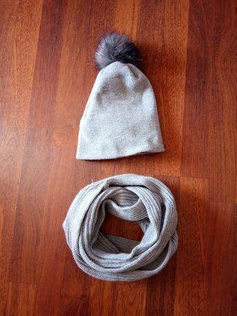 Komplet czapka komin zima