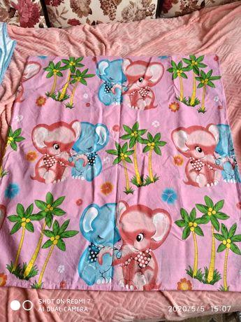 Детский пододеяльник и детское одеяло