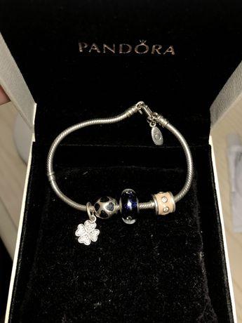 Оригинальный браслет pandora пандора серебро с шармами