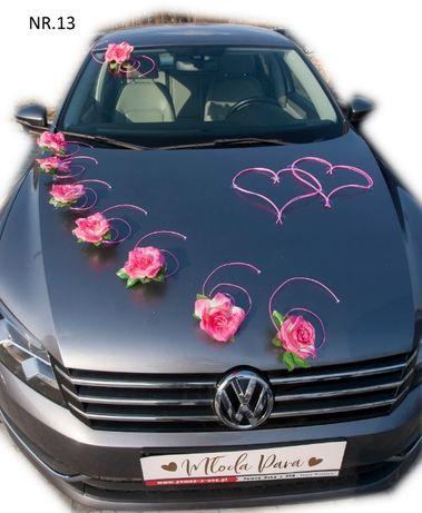 Dekoracja samochodu ozdoba na auto do ślubu NR.13 DOWOLNA KOLORYSTYKA