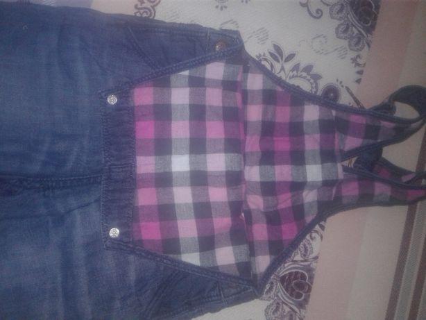 джинсовий комбінезон для дівчинки на хлопковій підкладці