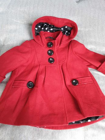 płaszczyk dziewczęcy czerwony
