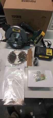 Serra circular sem fio POPOMAN, 4300 RPM, bateria 20V 4,0Ah, carregado
