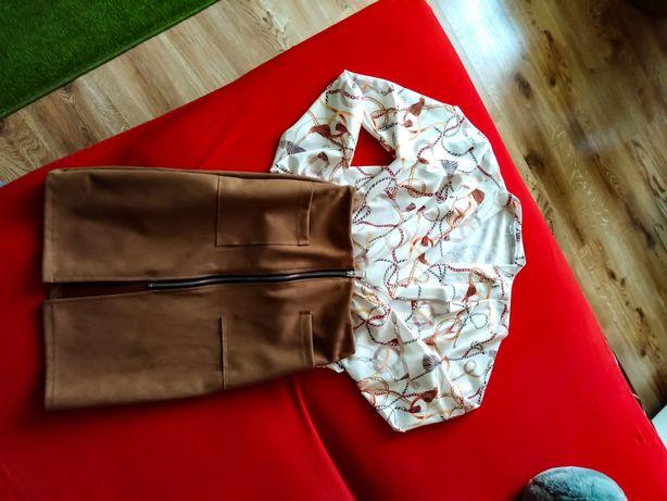 Zamszowa spódnice