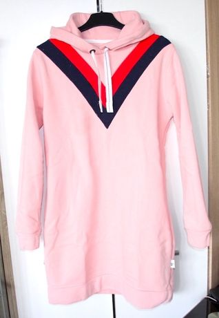 różową bluza sukienka z kapturem M 38 zara mohito bershka levis lee