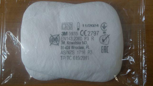 Предфильтр, фильтр 3м 5935 на маску 3м 6200, 7500, 6500ql, 6800
