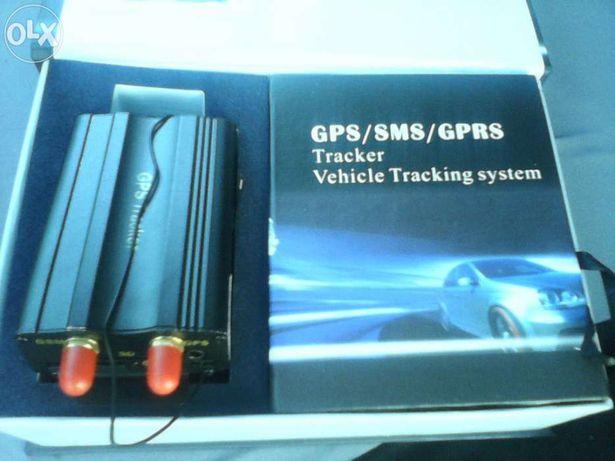 Localizador gps e alarme gsm com corte corrente e comando