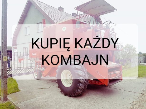 Skup kombajnów, sieczkarni bizon, claas, new holland itd.