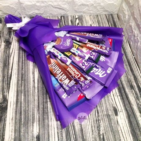 Букет из конфет, рафаелло, милка, подарок любимой маме, девушке, жене