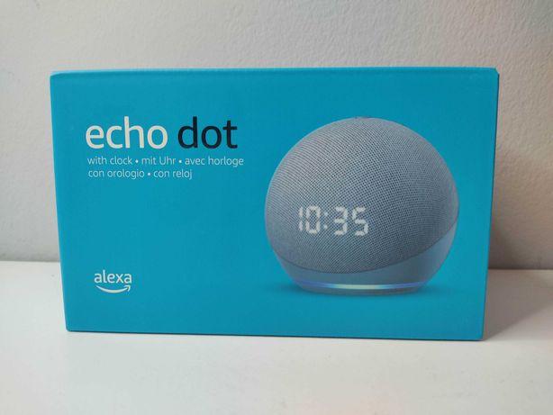 ECHO DOT 4 com Relogio - Coluna inteligente comalexa Integrada
