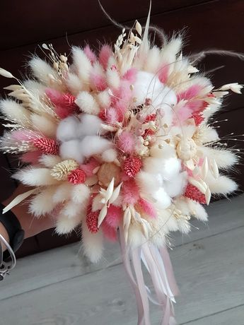 Набор свадебный из сухоцветов, букет невесты, весільний, бутоньєрка