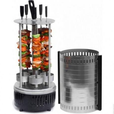 Электрошашлычница Domotec вертикальная на 6 шампуров 1000W