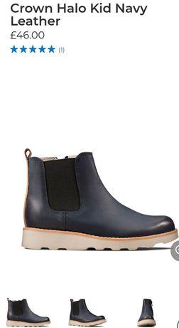 Детские кожаные демисезонные ботинки Clarks