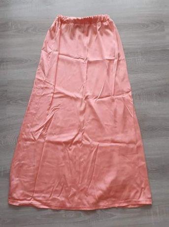 Długa spódnica łososiowa