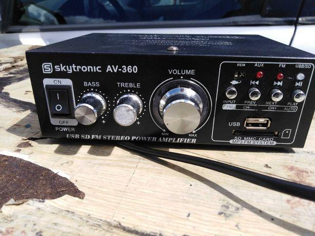 Wzmacniacz HiFi Stereo USB SD MP3 AUX FM SkytronicAV-360