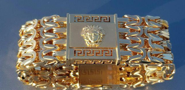 400g Masywna złota bransoletka styl VERSACE