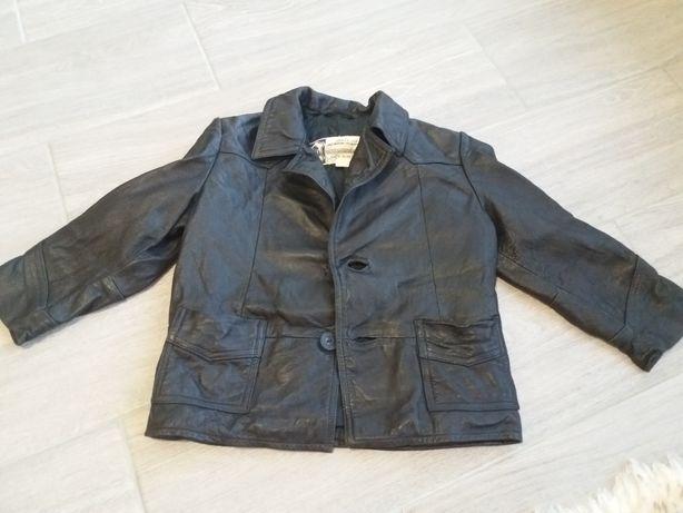 Шкіряна куртка на хлопчика