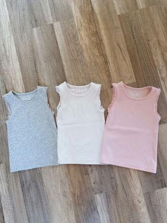 Koszulki dziewczęce w prążki roz. 18-24m-ce