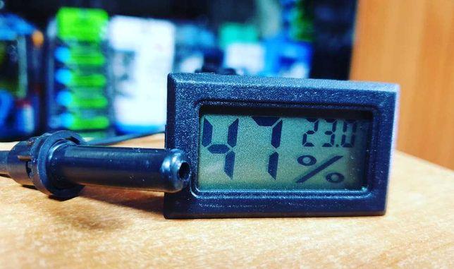 Термометр с измерителем влажности и выносным датчиком, новый - 150 г.