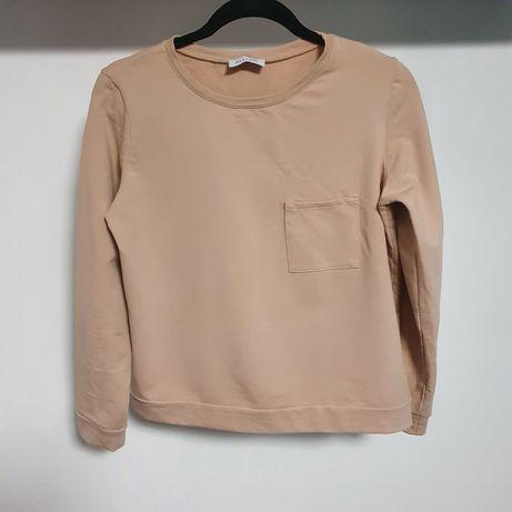 Beżowa bluza z kieszonką