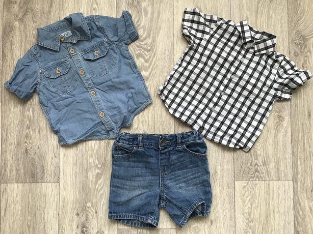 Комплект рубашка и джинсовые шорты