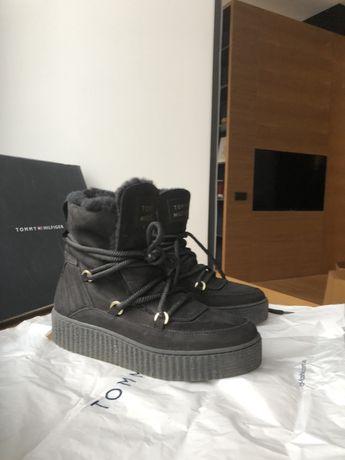 Новые ботинки, сапоги, Tommy Hilfiger полусапожки зимние, полуботинки