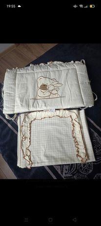 Pościel i ochraniacz do łóżeczka z firmy Mama& Tato