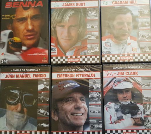 dvds legendas da formula 1