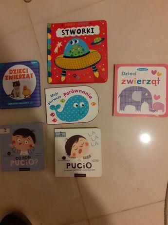 Zestaw 6 szt pierwsze książki maluszka sensoryczne Pucio dotykowe