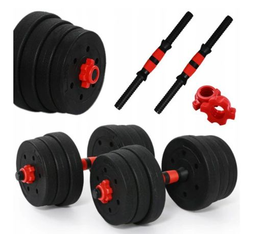 ZESTAW HANTLE 20kg 2x10kg Do Ćwiczeń