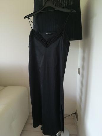 Zara satynowa sukienka S