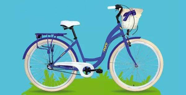 Rower miejski z koszykiem NOWY