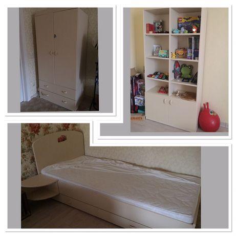 Детская мебель Meblik 6 эл.(Польша) Кровать+тумб+Шкаф+Стелаж Меблик