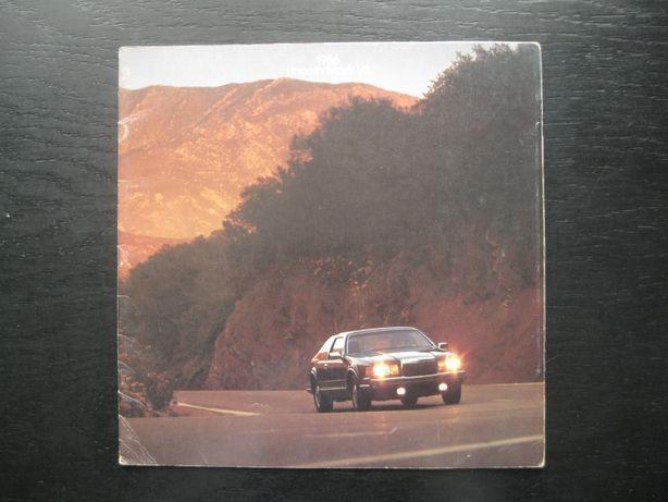 Lincoln Mark VII Prospekt LINCOLN Katalog Lincoln Mark VII 1986