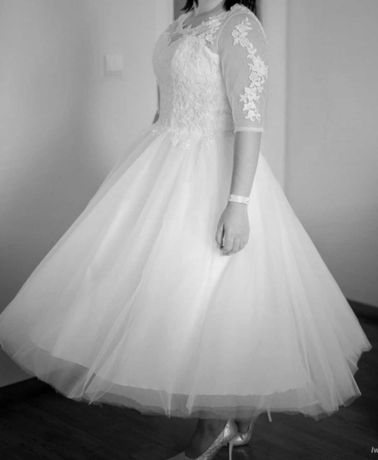 Suknia sukienka ślubna koronka haft tiul