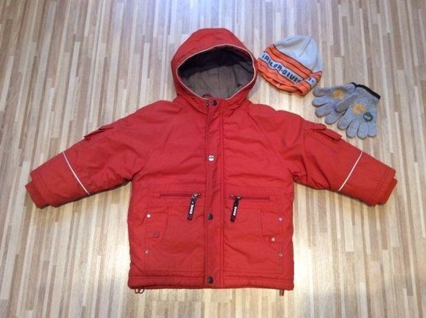 Kurtka zimowa 98 104 Coccodrillo ciepła gratis czapka rękawice