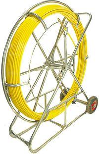Włókno szklane do przeciągania kabli 11mm/200m(pilot/stalka) PE+stojak