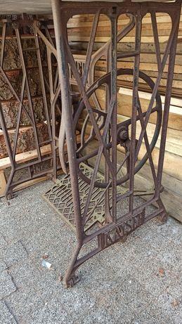 Nogi od maszyny Kayser Singer orginalne jako stolik do ogrodu żeliwne