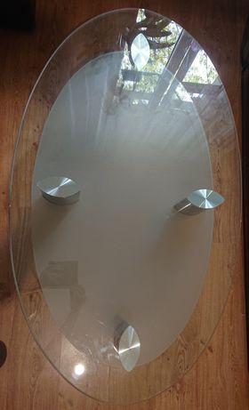 Ława ze szklanym blatem