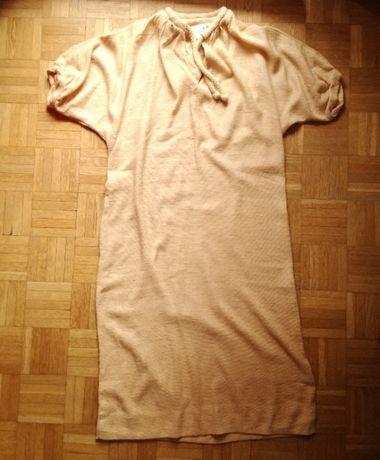 Sukienka-tunika Caron w kolorze biszkoptowym, rozmiar 36