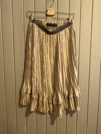 Patrizzia Pepe- swietna spodnica perlowy bez