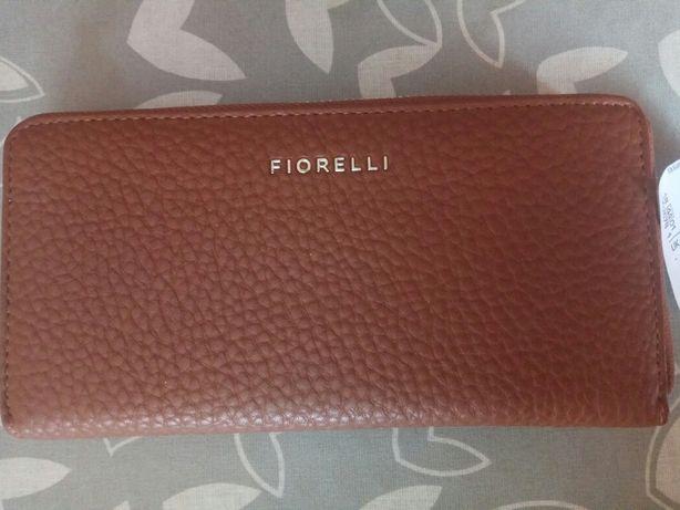 Damski portfel jasny brąz marki Fiorelli nowy imitacja skóry duży