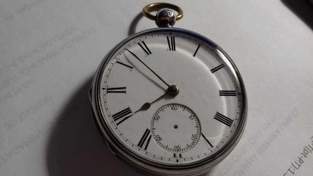 Relógio de Bolso Muito Antigo Caixa em Prata Caldeirão