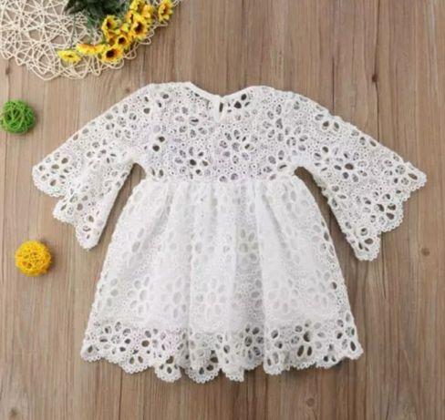 Платье на девочку два года 2 годика белое платье мама дочка на годик