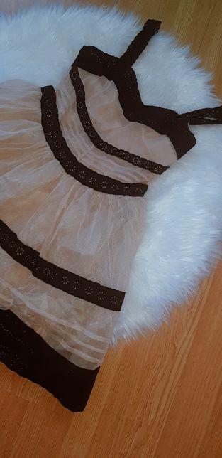 Sukienka falbanka, rozmiar 36/S