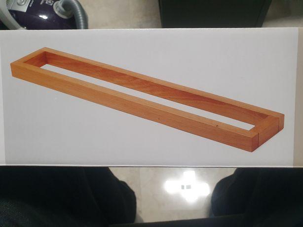Wieszak na ręczniki bambus drewno loft uchwyt drewniany